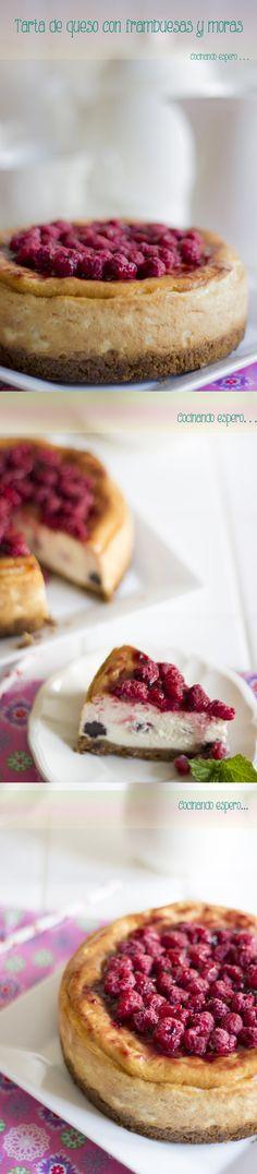 Cheesecake con frambuesas y moras / http://cocinandoespero.blogspot.com.es/