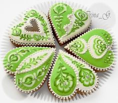 Green Heart Cookies for St. Patrick's Day!