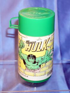 INCREDIBLE HULK ALADDIN USA PLASTIC THERMOS ONLY! For LUNCHBOX  #ALADDIN
