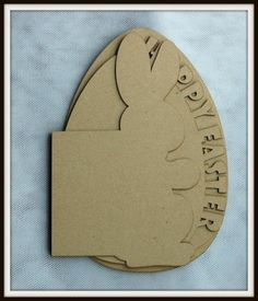 4 pieces thick kraft chipboard shape album-Happy Easter Bunny-For Mini Albums | eBay