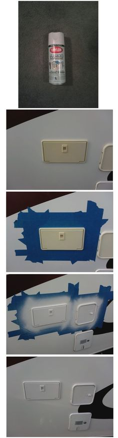 A little spraypaint designed for plastics will help those sun-faded plastic parts on your RV look like new again.