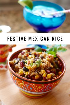 I am so excited because May is my favorite month (for so many reasons). One of the reasons I love May is because of Cinco de Mayo. Mexican Rice Recipes, Indian Food Recipes, My Favorite Food, Favorite Recipes, Indian Dishes, Rice Dishes, French Fries, Vegan Dinners, Festive