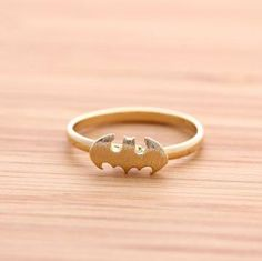 domccus's save of BATMAN ring in gold by bythecoco on Zibbet on Wanelo