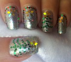 Christmas nail art tutorial - Winter Wonderland