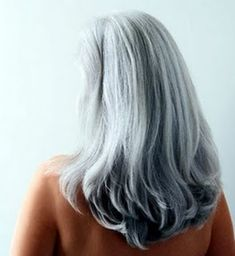 Just because you are gray doesn't mean you have to keep your hair short!  anakhaircolorcorn...  #gray #grey #hair #aging #gracefully #silver #going