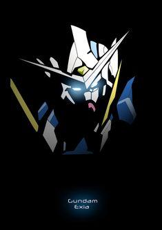another vector fanart Exia from Gundam 00 enjoy. Gundam Head, Gundam Wing, Gundam Exia, Gundam 00, Gundam Wallpapers, Gundam Mobile Suit, Cool Robots, Robot Concept Art, Mecha Anime