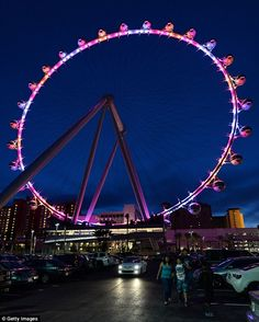 Ready to roll: A general view of the Las Vegas High Roller at The LINQ in Las Vegas, Nevada. The 550-foot-tall attraction is the highest obs...