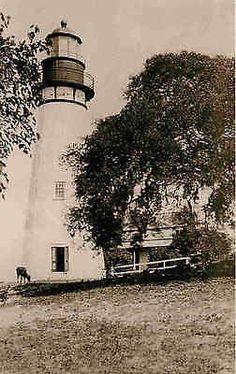 Fernandina Beach Florida FL 1885 Amelia Island Lighthouse Vintage Postcard Fernandina Beach Florida FL 1885 image of Amelia Island lighthouse which was built in 1820 on the southern end of Georgia's L