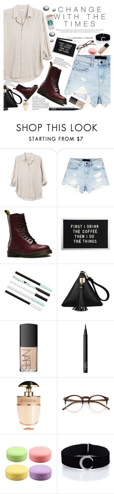 """""""Untitled #1910"""" by anarita11 ❤ liked on Polyvore featuring Xirena, Alexander Wang, Dr. Martens, NARS Cosmetics, Prada, Wildfox and Maybelline"""