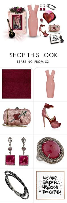 """Untitled #257"" by hotpinkolive ❤ liked on Polyvore featuring Gucci, Monique Lhuillier, Bavna, Alexandra Mor and DENY Designs"