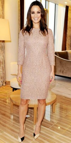 Look of the Day › March 23, 2013 Berenice Marlohe WHAT SHE WORE Marlohe celebrated the Berlin Escada flagship opening in the label's sparkling sheath and mosaic heels.