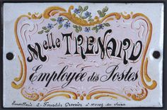 Plaque signalétique 20ème siècle © L'Adresse Musée de La Poste / La Poste, DR