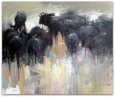 Wildebeest Herd by Peter G Hall, via Flickr