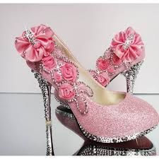 pink high heels with diamonds - Google Search