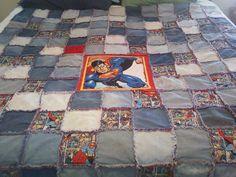 Superman rag quilt