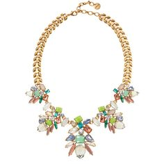 Stella & Dot Trellis Necklace ($98) ❤ liked on Polyvore featuring jewelry, necklaces, stella & dot, sparkly necklace, vintage jewelry, chain jewelry, stella dot necklace and statement necklace