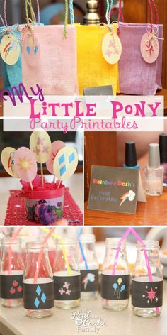 My Little Pony Birthday Party ~ Printables My Little Pony Birthday Party adorable printables. Perfect printable pack to make a the party cute and quick. Cute Birthday Ideas, My Little Pony Birthday Party, 6th Birthday Parties, Magic Birthday, Fourth Birthday, Girl Birthday, My Little Pony Games, Little Poney, Party Printables