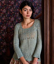 I think this might be the next project to knit....Ivyle by Quenna Lee, knit with The Fibre Company Meadow
