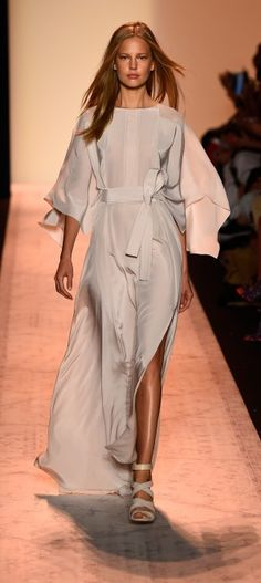 BCBGMaxAzria continued the belted trend at MBFW Spring 2015