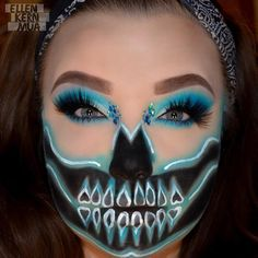This is What special FX look will you create with goodies from The Makeup Club? Halloween Eye Makeup, Halloween Looks, Halloween Costumes, Face Paint Makeup, Fx Makeup, Skeleton Makeup, Skull Makeup, Monster Makeup, Hallowen Ideas