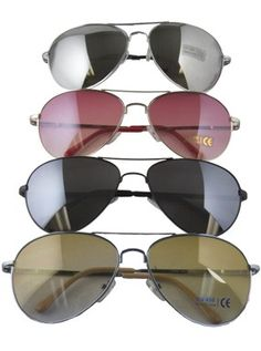 62bfceacb36e Private Island Party - DOZEN Aviator Style Police Sunglasses Mixed Colors