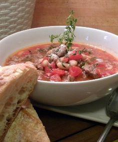 Tuscan Sausage and Bean Chili