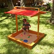 Sandbox Design Ideas sandigz sandbox cover design is so simple our 2 year old child can open this huge Sandbox With A Collapsible Canopy Fabulous Design