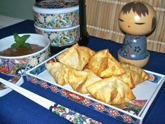 Crab Rangoons with a Apricot Dipping Sauce (this is a good and easy one)