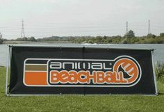 Animal beachball banner produced by House of Flags