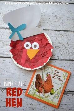 Paper Plate Little Red Hen {Kid Craft} Should you really like arts and crafts you'll will love our website! Preschool Books, Preschool Crafts, Crafts For Kids, Preschool Painting, Summer Crafts, Red Crafts, Farm Crafts, Paper Plate Crafts, Paper Plates