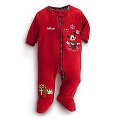 Disney Minnie Mouse Blanket Sleeper for Baby - Holiday - Personalizable | Disney StoreMinnie Mouse Blanket Sleeper for Baby - Holiday - Personalizable - Snuggle her up for the holidays in this soft and warm Minnie Mouse Blanket Sleeper. Embroidered artwork adds festive fun to this sleep style featuring a full zip front and attached slipper feet.