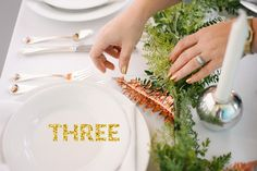 How To: Garland Centerpiece A Practical Wedding: Blog Ideas for the Modern Wedding, Plus Marriage