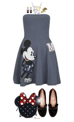 """""""Mickey :Hearts: Minnie"""" by nonniekiss ❤ liked on Polyvore featuring Paul & Joe Sister, Chiara Ferragni, Loungefly, Disney and Disney Couture"""