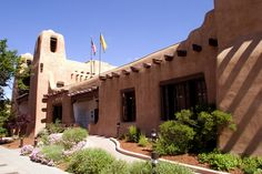 Santa Fe Museum. Beautiful shot of the museum and that gorgeous New Mexico blue sky!
