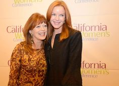 Frances Fisher of Titanic and Marcia Cross of Desperate Housewives at the kick-off party for the California Women's Conference, which comes up in September