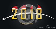 Happy new year to all. This picture is illustration vector.