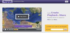 Meograph es una herramienta multimedia que un periodista fácilmente podría usar para narrar historias. La interfaz permite crear, reproducir y compartir líneas de tiempo en Google Earth o Google Maps con información de algún suceso.