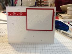 Christmas card using sizzix and darice embossing folders