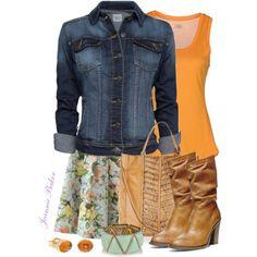 """Flirty Floral Skirt"" by jbaker1663 on Polyvore"