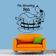 Pet Grooming Wall Decal Dog Grooming Salon Decals Vinyl Stickers Puppy Pet Shop Animal Decor Nursery Bedroom Wall Art Interior Design Z854 by WisdomDecals on Etsy https://www.etsy.com/listing/245677689/pet-grooming-wall-decal-dog-grooming