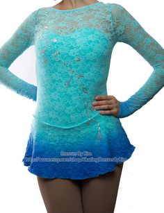 "Custom Figure Skating Dress - ""Lacey"" / Baton Twirling Dress / Dance Dress Comes in so many different colors!!!"