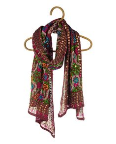 Indian scarf.    *bohemian, gypsy, textile