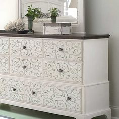 1000 images about dresser makeovers on pinterest - Stencil patterns for furniture ...