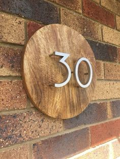 House Numbers From a Chopping Block
