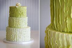 Ombre Wedding Cakes, Wedding Cakes Photos by Maxie B's Gorgeous Cakes, Pretty Cakes, Amazing Cakes, Green Square Wedding Cakes, Green Wedding, Cupcake Cakes, Cupcakes, Wedding Cake Photos, Cake Wedding
