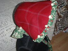 Cloche made into bonnet for Panto
