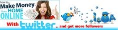 How to Make Money on Twitter Using All Free Websites   Twitter is one of the fastest growing websites on the internet because it is a social media platform. Like Facebook, Twitter allows you to keep in touch with anyone who shares similar interests with you. Learn how to make money using your Twitter account using all Free websites. If you already have a Twitter Account go to step 2.