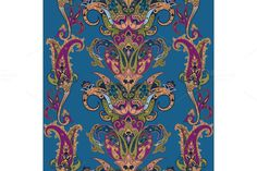 Paisley Seamless Pattern by Natikka Art on @creativemarket