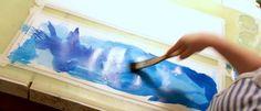 Kelmumaalaus Simple Art, Easy Art, Crafts For Kids, Watercolor, Drawings, Diy, Painting, School, Crafts For Children