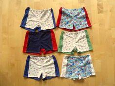 Kinderunterwäsche aus Jerseyresten und alten T-Shirts - mit link zum Schnittmuster